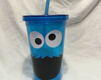 Cookie Monster Tumbler/blue cup