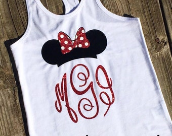 Disney shirt mickey minnie mouse Racerback Tank top Disney Girl Baby Toddler Ladies disney world