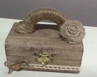 Personalised rustic ring box