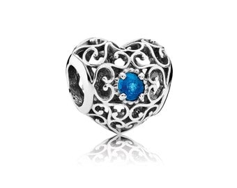 Authentic Pandora December Signature Heart Charm Bead Awesome