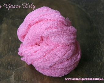 Bright Pink Cheesecloth Baby Wrap