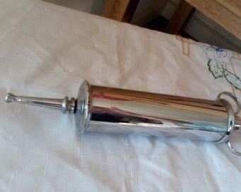 Vintage Large Veterinary Syringe