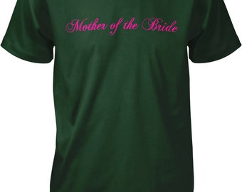 Pink Mother of the Bride, Wedding Party Men's T-shirt, NOFO_00322