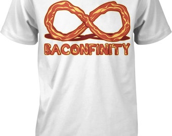Baconfinity, I Love Bacon, Bacon Forever, Bacon Strip Men's T-shirt, NOFO_00153