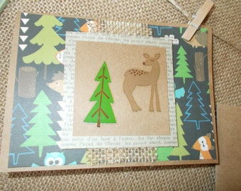 Woodland Creatures- deer- greeting cards