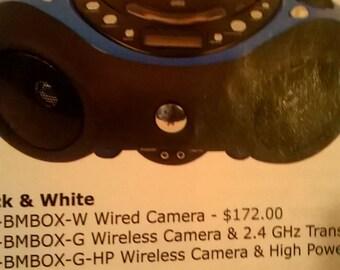 hidden camera boom box
