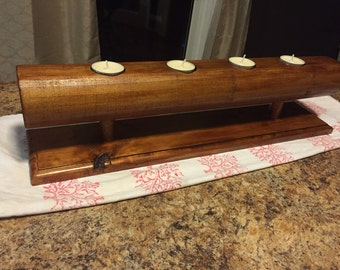 Tealight Holder, Wooden Candle Holder, Wood Candle Holder, Wooden Home Decor, Rustic Decor