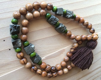 Chunky Olive Wood Necklace