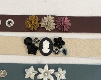 Leather Adjustible Strap Bracelets