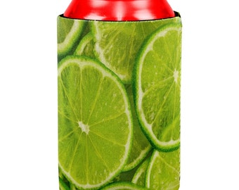 Lime Limes Citrus All Over Can Cooler