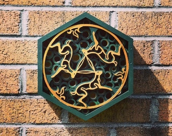 Bug box - Three Hares - Bug Hotel - Sculpture - Wall Art - Garden Art