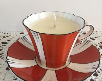 Soy Candle in Royal Albert tea cup