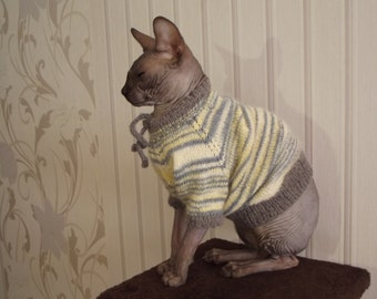 Sweater for a Cat, Sweater for a Sphynx, Cat Clothing, Sweater for a Dog, Dog Clothing