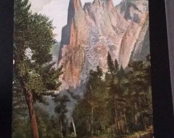 Vintage Sentinel Rock Yosemite Valley, CA Postcard