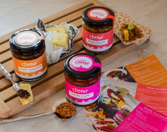 Indian food gift Spicy chutneys and pickles hamper