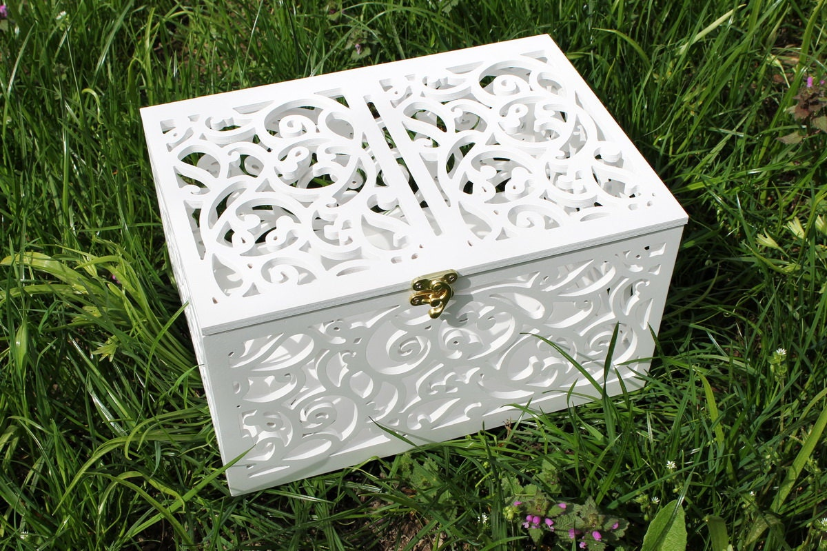 Card Gift Box Wedding: Wedding Card Box-Wedding Gift-Plywood Wedding-Love By LeonArts