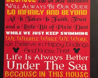 painted in this house we do disney sign
