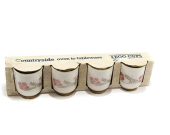 Countryside oven to table ware vintage Eggcups  Tolville marketing Made in England