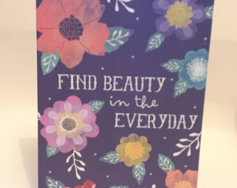 A5 Find Your Beauty Notebook