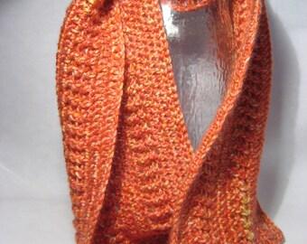 Hand crocheted infinity scarf (056-03W6)