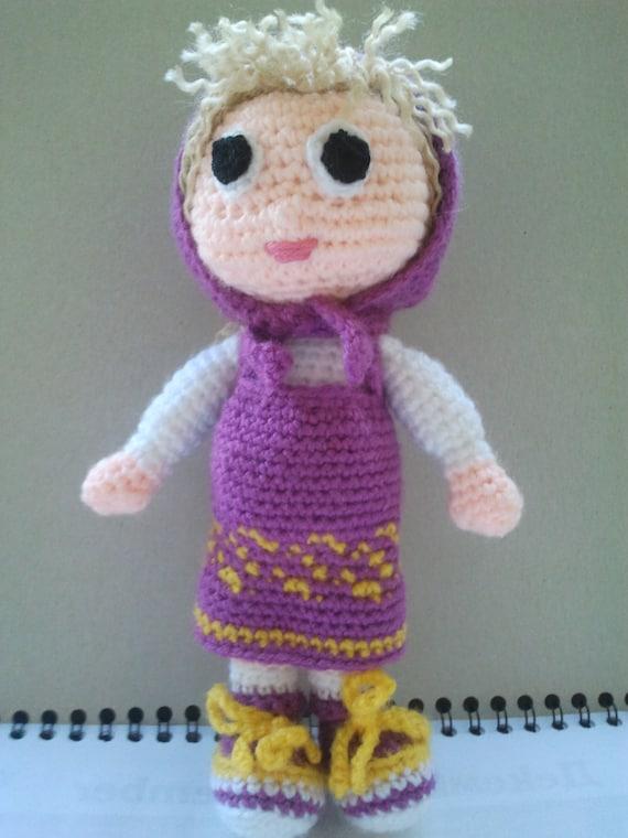 Amigurumi Tutorial Masha : Amigurumi Doll Masha The Russian Girl Crochet by ...