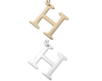 """Letter """"H"""" (Silver or Gold tone) [5 pieces]"""