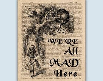 Alice Art, Alice In Wonderland Print, Alice Decor, Alice Nursery Art, Fairytales Print, Nursery Art Print, Play Room Decor, SKUAL1