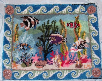 Ocean Fantasy latch hook rug