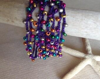 Purple MardiGras Bracelet
