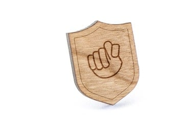 Asl T Lapel Pin, Wooden Pin, Wooden Lapel, Gift For Him or Her, Wedding Gifts, Groomsman Gifts, and Personalized