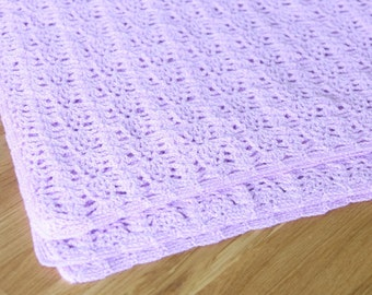 Lacy lilac baby blanket