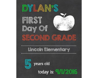 First Day of School Sign/Photo Prop