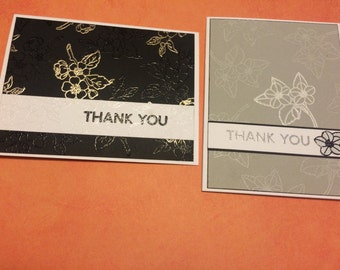 Set of two Thank you notes