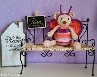 Crochet Teddy Butterfly - little bear in costume - spring - mother's day
