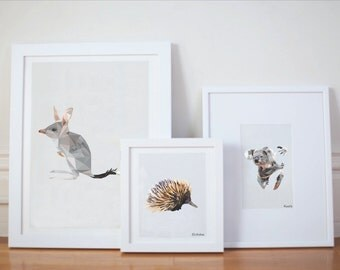 Bundle of three geometric native animal prints.