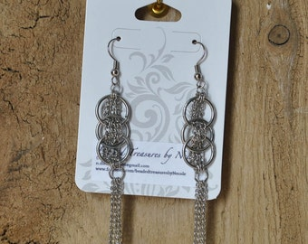 Ring and Chain Earrings