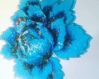 blue peony canvas