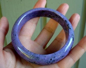 Russian Siberian Top Grade Purple Lavender Charoite Bangle Bracelet 60+ MM