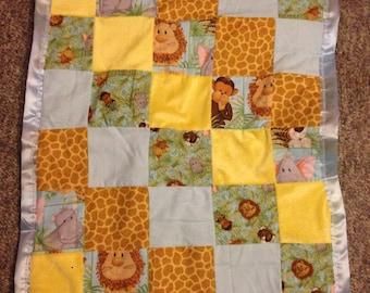 Cute jungle theme baby blanket