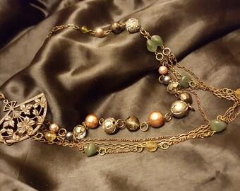 Beautiful Multistrand Fan necklace