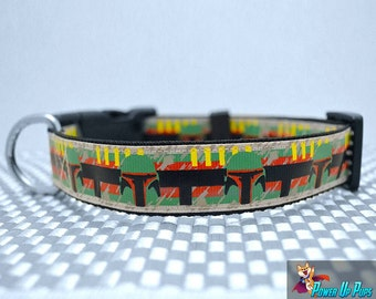 Boba Fett Star Wars Inspired Dog Collar