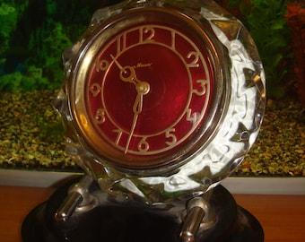 Vintage Mantel Clock, Table Clock, Mechanical Clock, Clock Mantel Majak, Desk  Clock