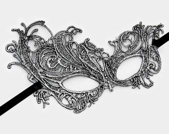 Lace Filigree Venetian Mask, Masquerade, Great Gatsby, Mardi Gras, New Years,Wedding