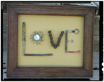 """Upcycled Art """"Chains Of Love"""""""