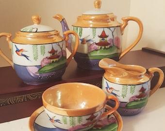 Vintage Luster Ware 20 pc Tea set 1960's
