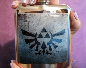 FLASK ZELDA liquor flask personalized flask custom flask Accessory hip flask cute flask