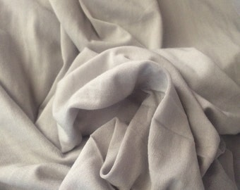 Micro Modal spandex by the yard eco friendly Light Smokey Grey