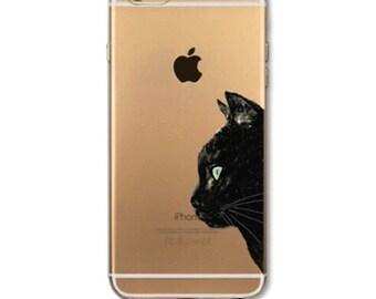 Cat Phone Case, Black Cat Phone Cover, iPhone Cat Case, iPhone Cat Cover, iPhone 6 Plus Cat Case, iPhone 6s Cat Case, iPhone 6 Cat Case