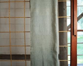 Homespun, homewoven, center seam blanket, soft sage green