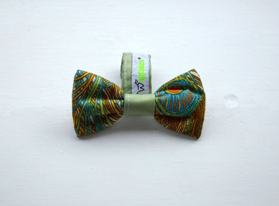 Limited Edition Liberty Peacock Print (S/M) Dog Bow Tie